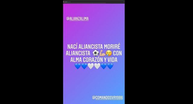 Christian Cueva reacts after the descent of Alianza Lima (Photo: @ Cueva10oficial)