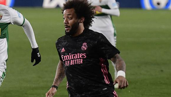 Marcelo Jugó 76 minutos en el empate entre Real Madrid y Chelsea en el Di Stéfano, en la ida. (Foto: AFP)