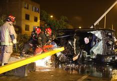 Familia sobrevivió a aparatoso accidente vehicular en San Martín de Porres