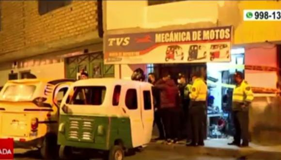 El asesino del joven mecánico ocurrió en el taller situado en calle Enrique Meiggs del AA.HH. Villa Señor de los Milagros, en el distrito de Carmen de la Legua-Reynoso. (Foto: Captura: América Noticias)