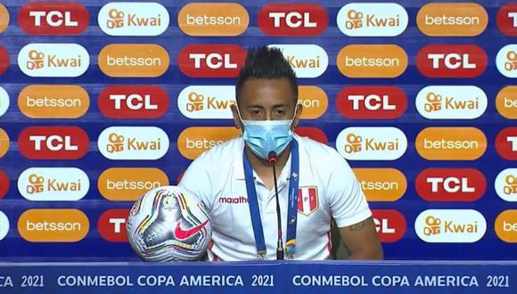 Christian Cueva se refirió a su vida personal en conferencia de prensa, previo al duelo ante Ecuador por Copa América.