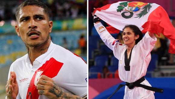 Paolo Guerrero felicitó a Angélica Espinoza por su medalla de oro. (Foto: EFE/Twitter)