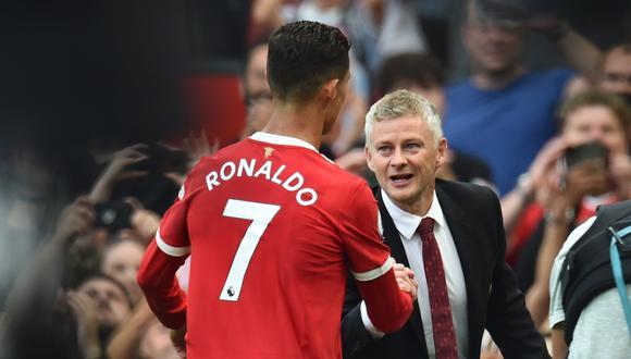 Ole Gunnar Solskjaer aclaró actitud de Cristiano Ronaldo en el partido de Champions League. (Foto: EFE)