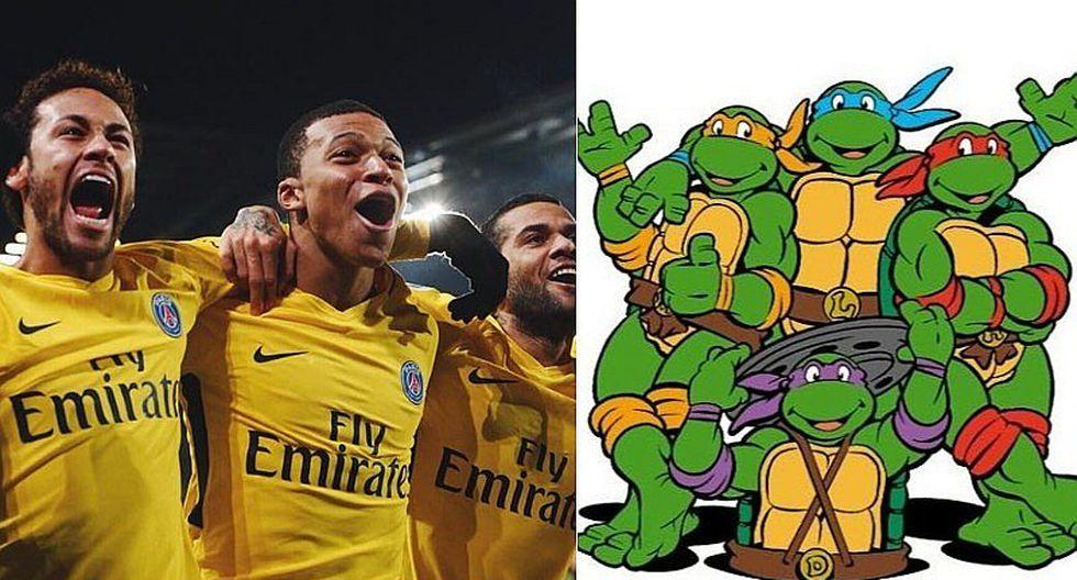 Mbappé anotó y Tortugas Ninjas ingresaron al campo para celebrar