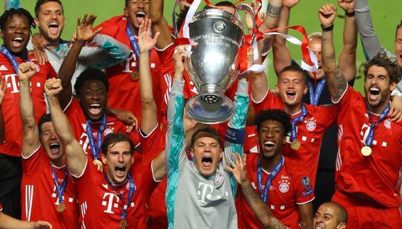 Con gol de Coman, Bayern Múnich venció 1-0 a PSG de Neymar y Mbappé y es el nuevo campeón de la Champions League 2019-20. FOTO: UEFA