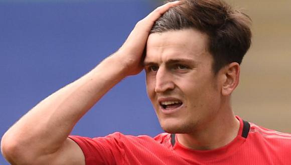 Harry Maguire fue fichado por Manchester United, a cambio de 87 millones de euros. (Foto: AFP)