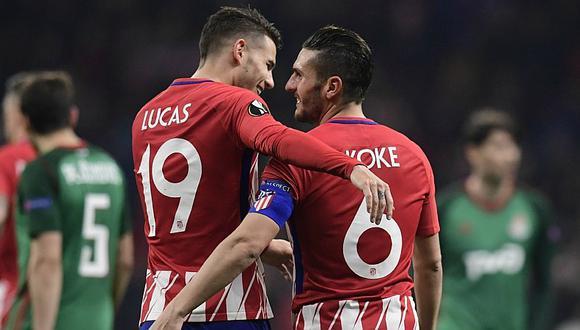 Sin Jefferson Farfán: Lokomotiv cayó goleado 3 a 0 ante Atlético de Madrid