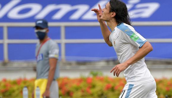 Edinson Cavani no fue parte de la última jornada doble de Eliminatorias rumbo a Qatar 2022. (Foto: AFP)