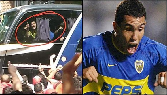 Revelan que Tevez hizo la 'gallinita' antes del ataque al bus de Boca
