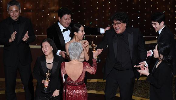 Oscar 2020: Parasite ganó a Mejor película. (Foto: AFP)
