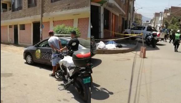 Un delincuente fue atrapado por efectivos de la PNP, luego que este quisiera escapara tras haber robado a una joven. El hecho ocurrió en el distrito de San Martín de Porres. FOTO: Captura