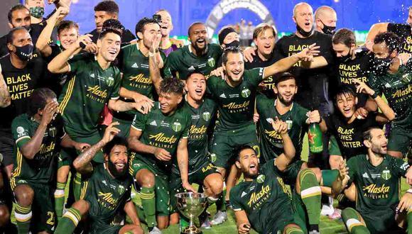 Andy Polo se coronó campeón de la MLS is Back con el Portland Timbers. (Foto: AFP)