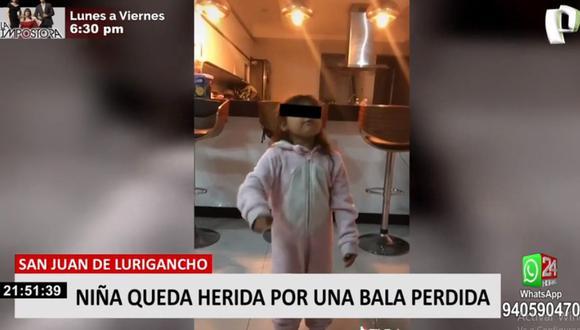 Una niña de 5 años resultó herida de bala durante un enfrentamiento entre delincuentes en San Juan de Lurigancho. (Foto: 24 Horas)