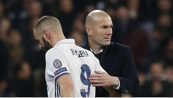Zidane defiende a Benzema y asegura que es uno de los mejores del mundo