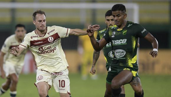 Defensa y Justicia goleó a Universitario de Deportes y es líder del Grupo A de Copa Libertadores 2021 | Foto: AFP