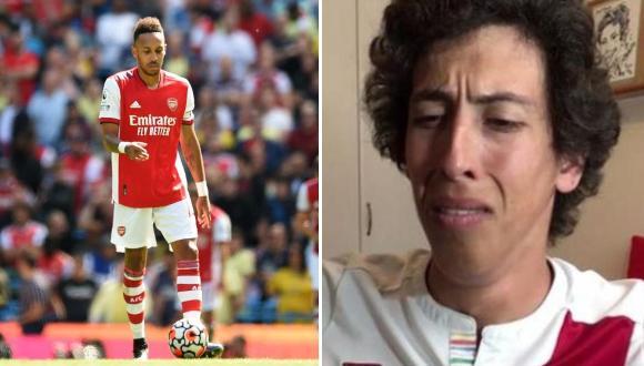 El comediante tuvo sorprendente reacción ante la derrota por goleada de Arsenal frente al Manchester City.