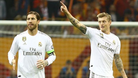 Toni Kroos y Sergio Ramos vienen siendo compañeros en Real Madrid durante siete temporadas. (Foto: AFP)