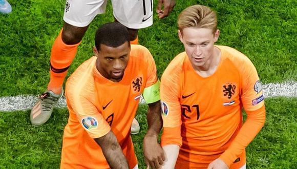 Wijnaldum y De Jong son viral en redes por festejo en Holanda. (Foto: Difusión)