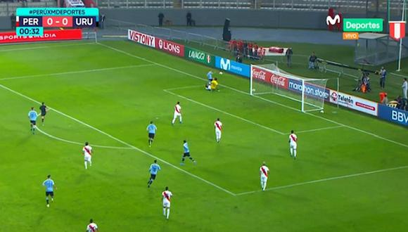 Perú vs. Uruguay EN VIVO | Charrúas sorprenden a la 'Bicolor' en 30 segundos con un remate al palo [VIDEO]