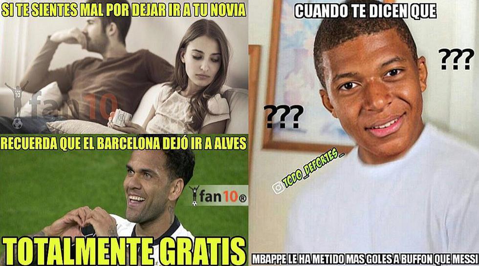 Dani Alves y Kylian Mbappé protagonizan los mejores memes [GALERÍA]