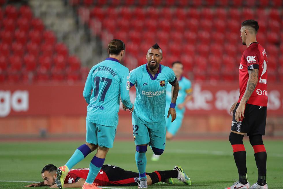 Arturo Vidal marcó a favor del Barcelona | Foto: EFE