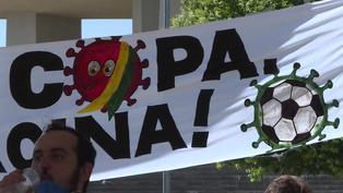 Gritos de gol y de protesta en inauguración de la Copa América