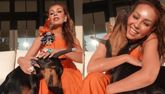 Thalía es acusada de maltrato animal por reciente publicación de Instagram junto a su perrita. (Foto: @thalia).