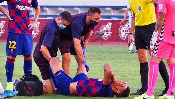 Ronald Araujo salió lesionado en el encuentro ente Barcelona B y Sabadell.  (Foto: FC Barcelona)