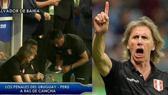 Selección peruana | Ricardo Gareca y el papelito clave en la previa de los penales ante Uruguay | VIDEO