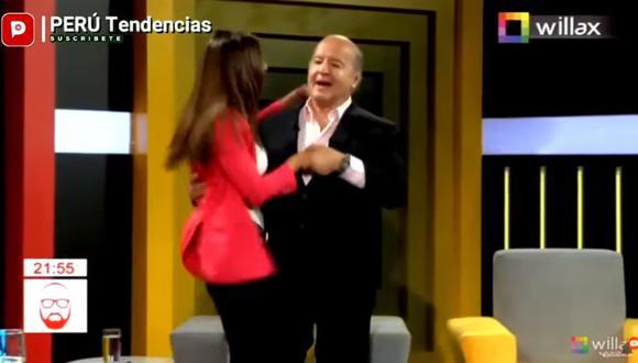 Hernando de Soto bailando con su pareja. (Captura Willax)