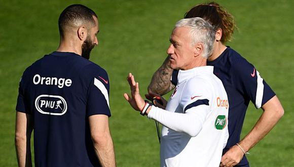 Karim Benzema fue titular y jugó solo 41 minutos del partido ante Bulgaria. (Foto: AFP)