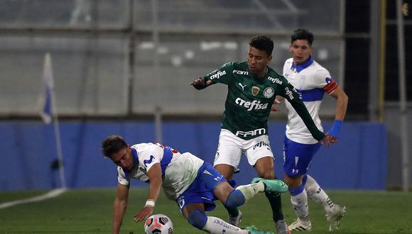 Palmeiras venció 1-0 a Católica en la ida disputada en Santiago. (Foto: AFP)
