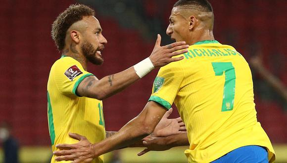 Neymar y Richarlison fueron figuras en la última fecha doble por Eliminatorias rumbo a Qatar 2022. (Foto: EFE)