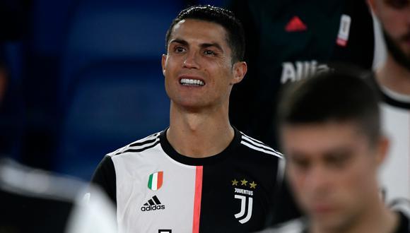 Cristiano Ronaldo no pudo impedir que Juventus cayera en la tanda de penales por 4-2 ante Napoli, que se queda con el título de la Copa Italia 2020 (Foto: AFP)