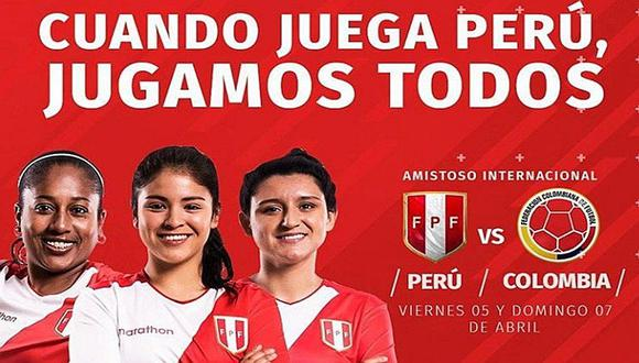 Selección peruana de fútbol femenino enfrentará a Colombia en amistoso