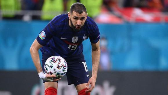Karim Benzema se despidió de la Eurocopa con cuatro goles anotados (Foto: AFP)
