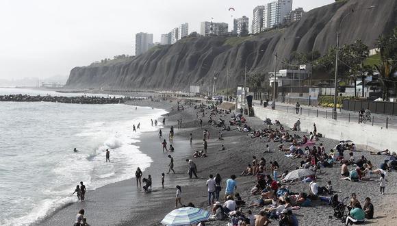 Municipalidad de Lima y otras 6 comunas presentarán propuesta para reducir aforo en playas de la Costa Verde. (Foto: Leandro Britto/GEC)