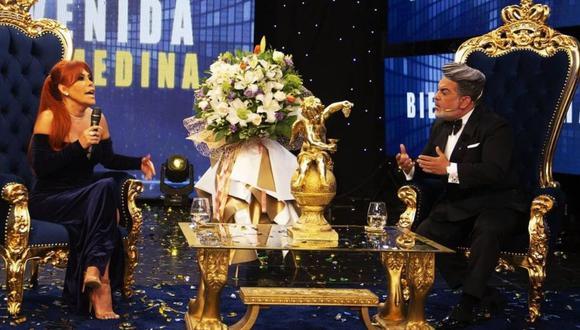 """Magaly Medina sorprendió recientemente a todos sus seguidores al asistir a aniversario de """"Porque hoy es sábado con Andrés"""". (Foto: Instagram)"""