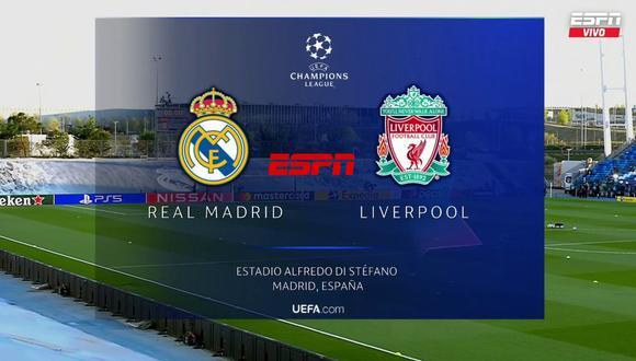 Vía ESPN en vivo | Real Madrid vs. Liverpool se miden en la ida de cuartos de la Champions League.