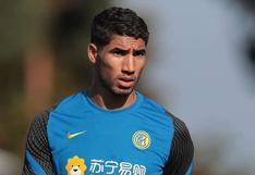 Achraf Hakimi da positivo a test por coronavirus y queda descartado para el debut del Inter en Champions League