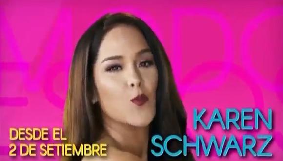 """""""Modo Espectáculos"""" con Karen Schwarz se estrena el 2 de setiembre en Latina. (Foto: Captura de video)"""
