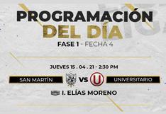 Universitario logró su primera victoria derrotando a la San Martín por 1-0