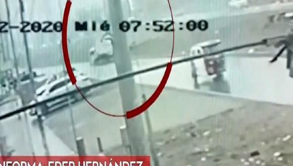 Un video registra el aparatoso accidente en VMT. (Captura: América Noticias)