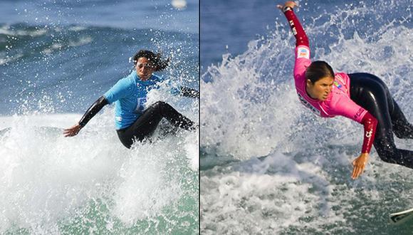 Sofía Mulanovich y Analí Gómez cara a cara en el pase a la final del Mundial de Surf