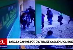 Sujetos se enfrentan a piedras y palos durante violenta batalla campal por posesión de casa en Jicamarca | VIDEO