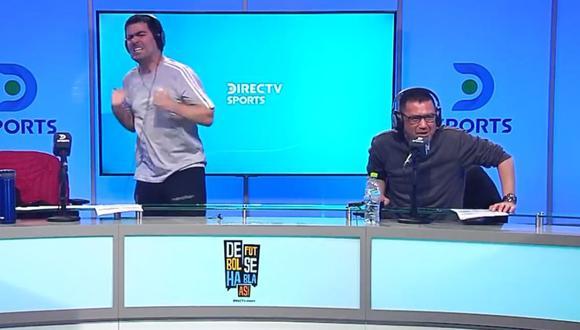 Sporting Cristal clasificó a cuartos de final y así fue la celebración de periodista en plena transmisión. (Foto: Directv)